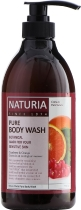 Гель для душа NATURIA КЛЮКВА/АПЕЛЬСИН PURE BODY WASH (Cranberry & Orange), 750 мл